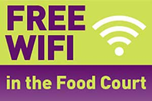 FREE WIFI in the Phoenix SC Food Court
