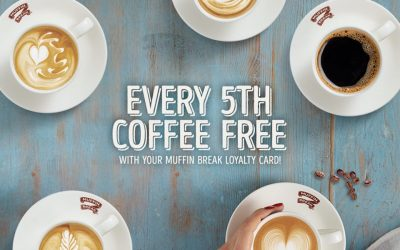 Every 5th Coffee Free at Muffin Break