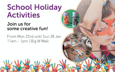 School Holiday Activities 22nd Jan – 28th Jan.