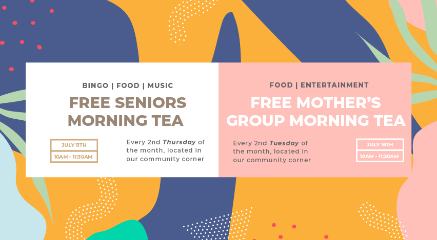 Mother's Group & Seniors Morning Teas
